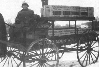Annie Clark on the Hosmer Mountain Wagon circa 1914jpg